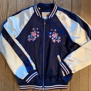 H&M girls satin bomber jacket